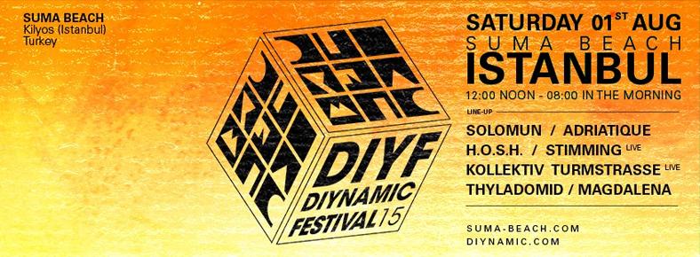 1 Ağustos 2015 Cumartesi 18:00  DIYNAMIC FESTIVAL ISTANBUL @ Suma Beach