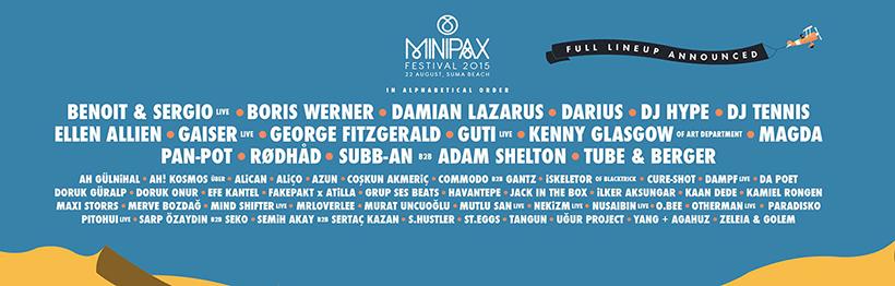Minipax Festival 2015 Line-up