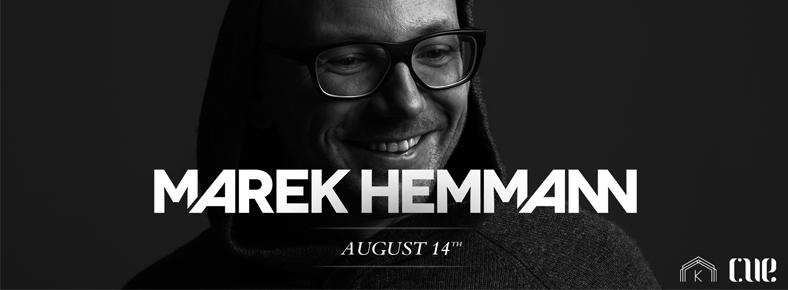 14 Ağustos 2015 Cuma 22:00 CUE Presents: Marek Hemmann @ Kloster Terrasse
