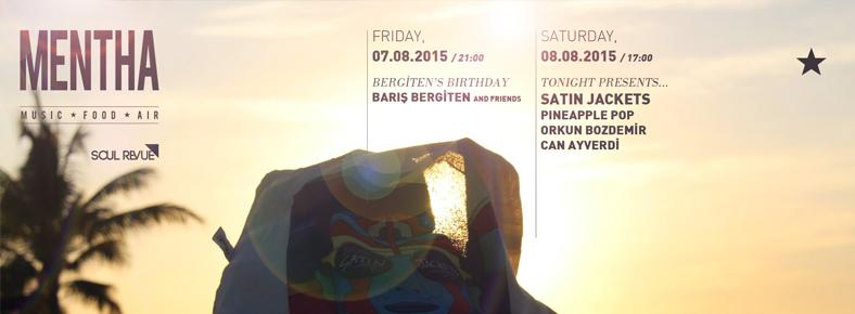 """7 Ağustos 2015 Cuma 22:00Bergiten's Birthday """"Barış Bergiten and Friends"""" @ Mentha"""