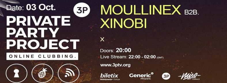 BONUS 3 Ekim 2015 Cumartesi 22:00 Moullinex b2b Xinobi @ Mixo Terrace