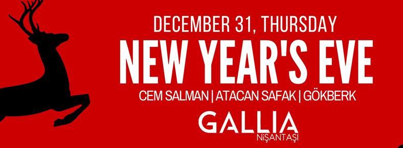 31 Aralık 2015 Perşembe 21:00 New Year's Eve @ Gallia