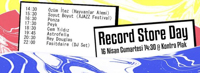 16 Nisan 2016 Cumartesi 14:30 Record Store Day @ Kontra Plak