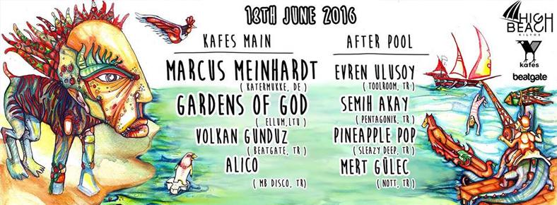 18 Haziran 2016 Cumartesi 22:00 Marcus Meinhardt x Gardens Of God @ Kafes