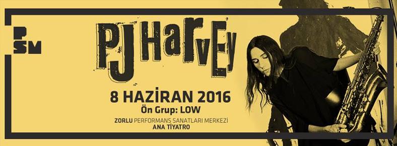 8 Haziran 2016 Çarşamba 21:30 PJ Harvey @ Zorlu PSM