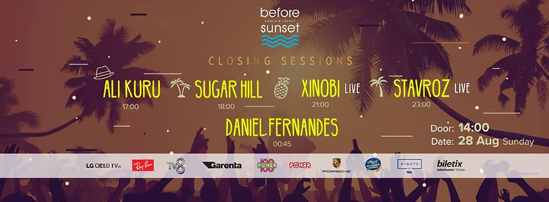 28 Ağustos 2016 Pazar 14:00 Closing Sessions @ Before Sunset