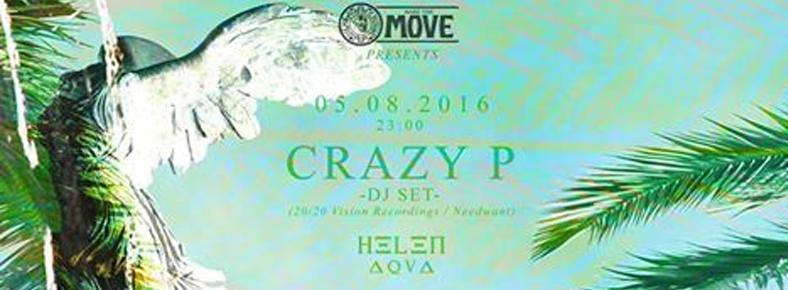14 Eylül 2016 Çarşamba 20:00 Crazy P @ Helen Aqua