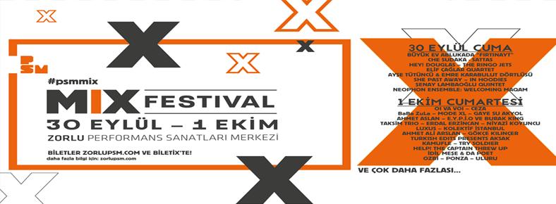 BONUS 1-2 Ekim 2016 MIX Festival @ Zorlu PSM