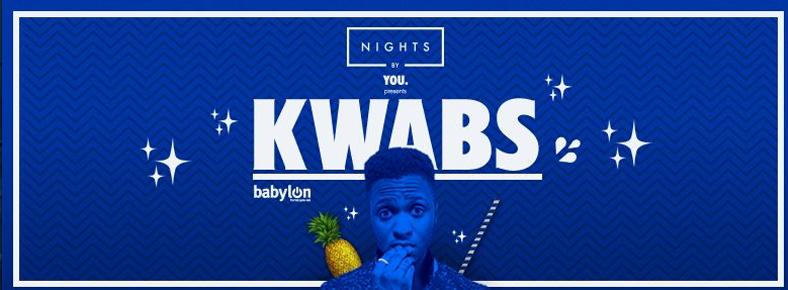 7 Ekim 2016 Cuma 21:30 Kwabs @ Babylon Bomonti