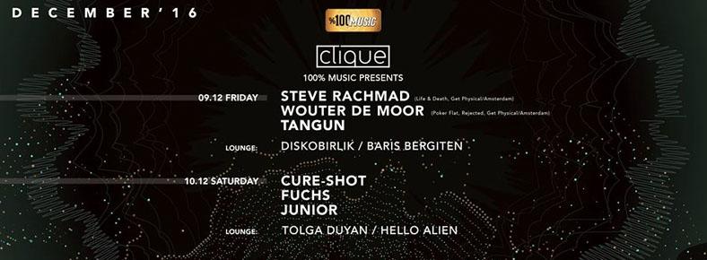 10 Aralık 2016 Cumartesi 23:00 Fuchs @ Clique Istanbul